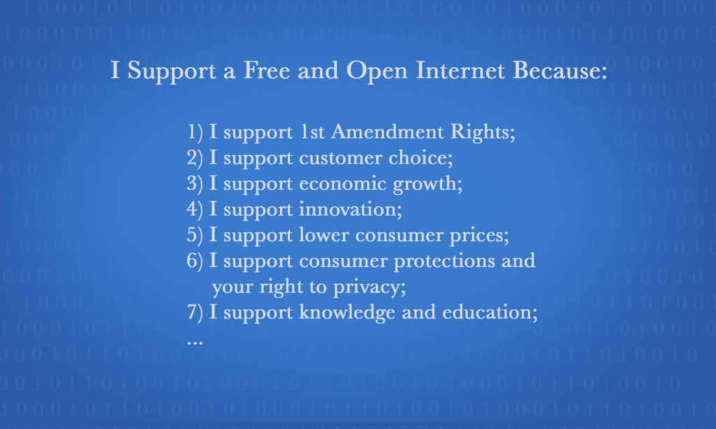 Support a Free and Open Internet